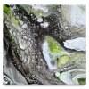 HIRAKU(やましたまほ)アクリル画 キャンバス 1点もの [ no.9 ]  (180mm×180mm)