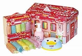 【出産のお祝に♪】赤ちゃんの必需品をかわいいボックスに。おむつボック...