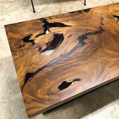 【1点もの‼】ケヤキ 無垢 一枚板 テーブル