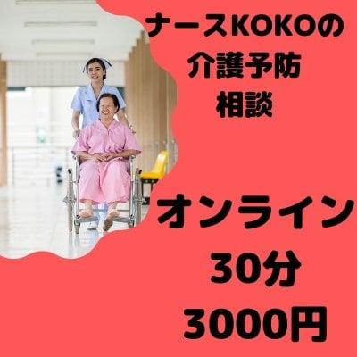 寝たきり回避!オンライン★ナースKOKOの介護予防相談 30分3000円