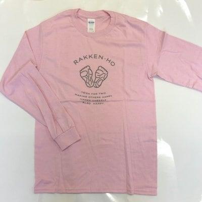 楽健長袖Tシャツ【ピンク】Sサイズのみ