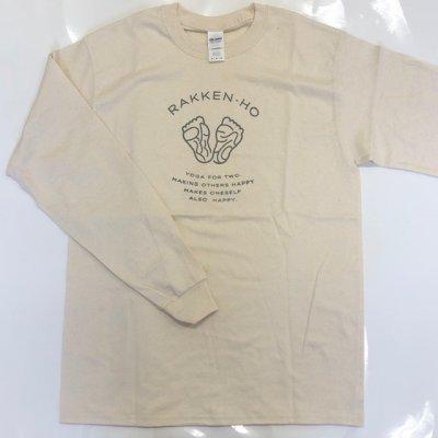 楽健長袖Tシャツ【アイボリー】Mサイズのみ