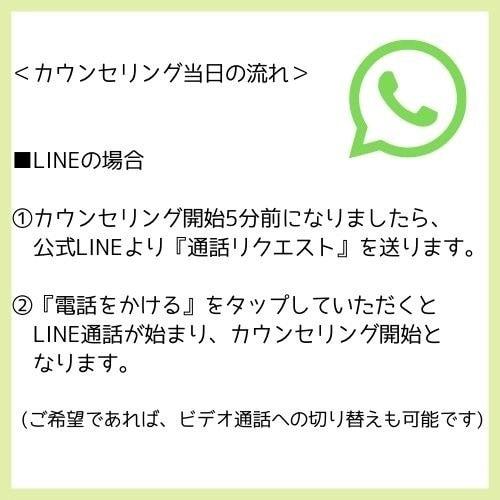 【気軽に30分】思いを話す電話カウンセリング(LINE・メッセンジャー)のイメージその2