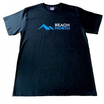 BEACH NORTH 半袖Tシャツ 5.6オンス ブラック Lサイズ