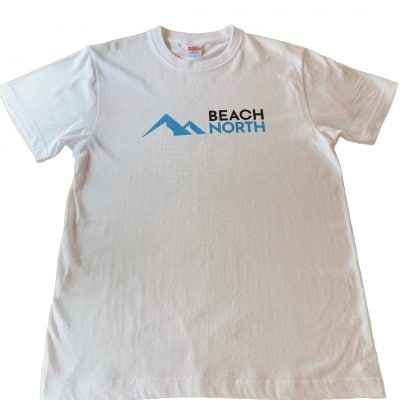 BEACH NORTH 半袖Tシャツ 5.6オンス ホワイト Mサイズ