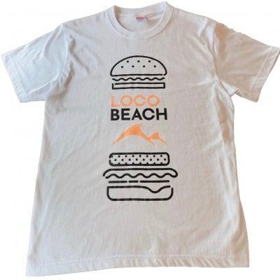 Loco Beach 半袖Tシャツ 5.6オンス ホワイト Sサイズ