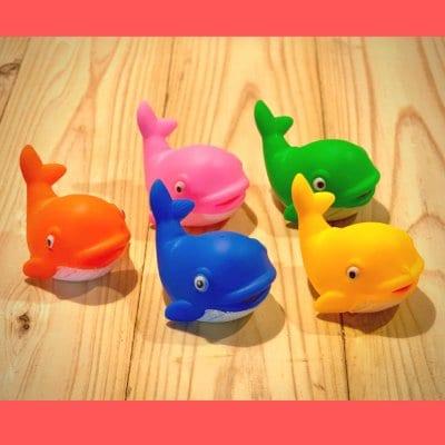 うきうきクジラ5個セット (人形すくい 5色アソート)