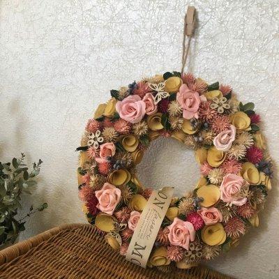 リース 【pink Rose】