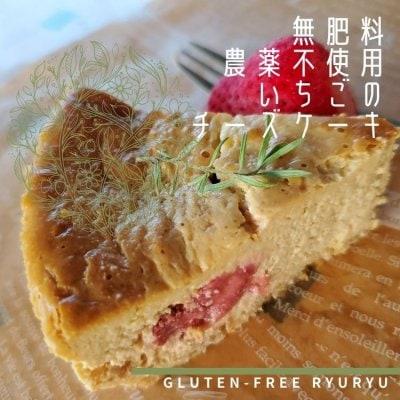 グルテンフリー、無肥料農薬不使用のいちごチーズケーキ クール便送料500円!