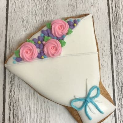 【プチギフトやお礼にぴったり】20枚 花束のアイシングクッキー