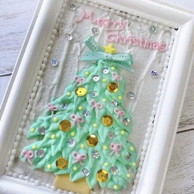 【みんなでつくろう!】額仕立てのクリスマスツリー