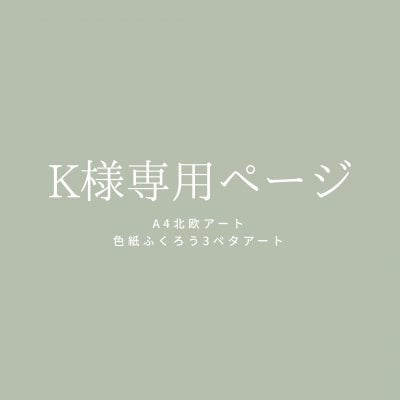 K様専用ページ【北欧アート&ふくろう3ペタ】
