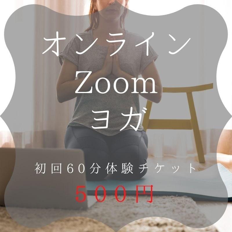 【オンラインZoomヨガ】500円初回体験チケット「女性限定」のイメージその1