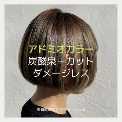 ダメージレス【アドミオカラー】+炭酸泉+カット