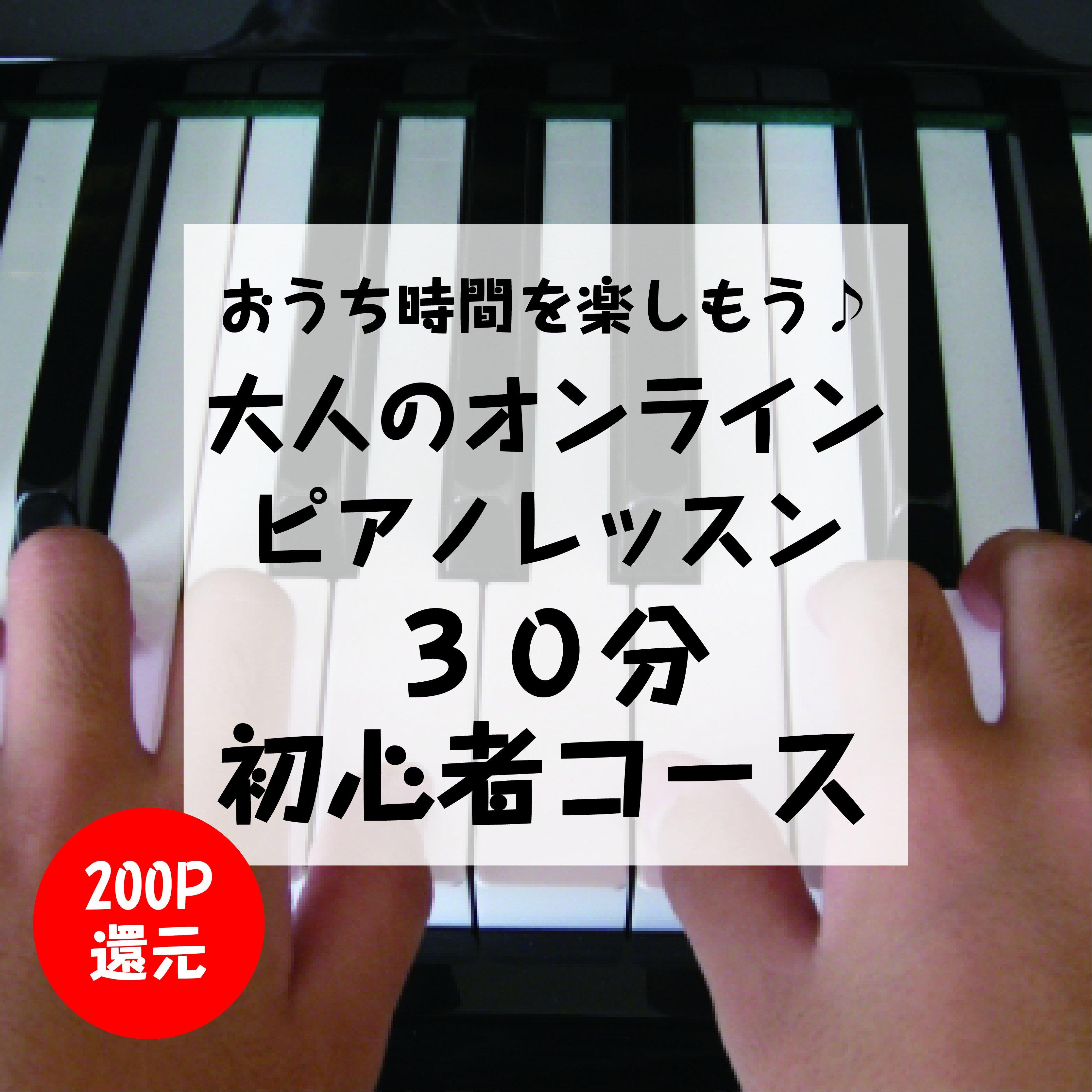 【大人のオンライン・ピアノレッスン】初心者コース30分 高ポイント還元のイメージその1