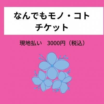なんでもモノ・コトチケット3000円