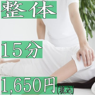 整体15分 1,650円(税込)