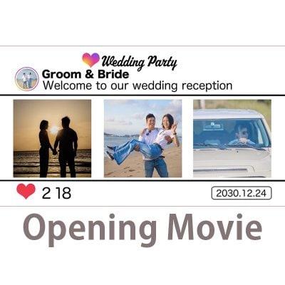 映像制作|福岡|鹿児島|ステキメーカー【映像商品】結婚式「オープニングムービー」