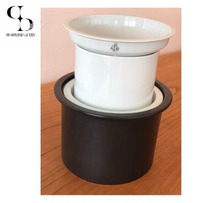 【蒸留調理器】ATRPOT/アートゥルポット/ブラック(特許|蒸留器|蒸し器|水蒸気蒸留法)