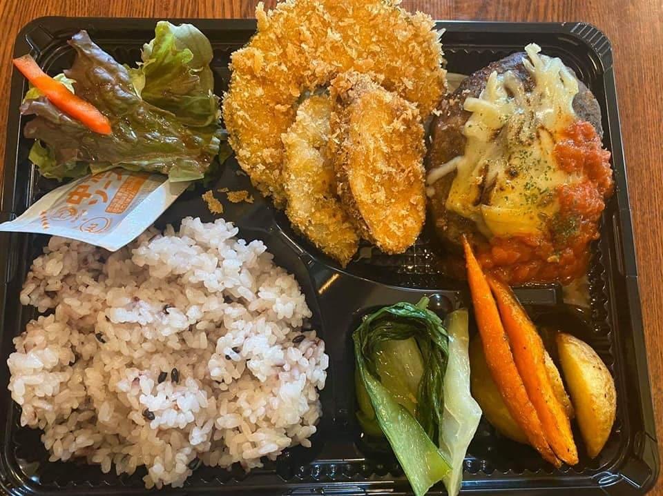【店頭受け渡し専用】お弁当(ハンバーグ&野菜フライ)のイメージその1