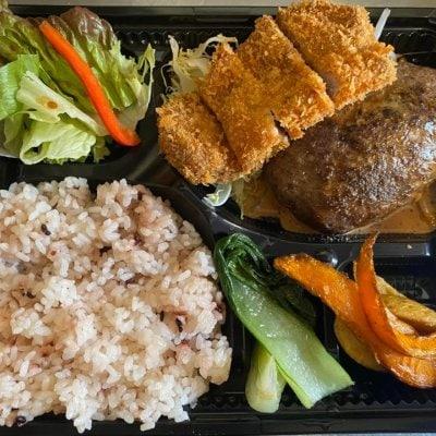 【店頭受け渡し専用】お弁当(ハンバーグ&トンカツ弁当)