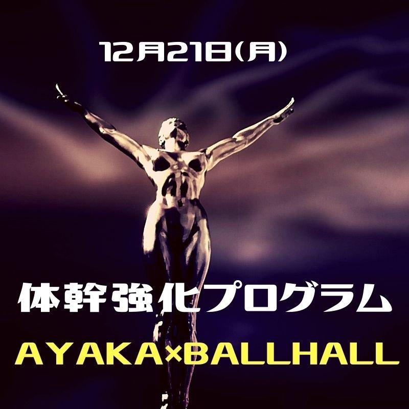 12/21★パーソナルトレーナーAYAKAの体幹強化プログラムのイメージその1