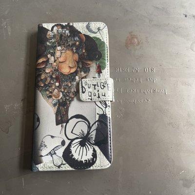 【gajuグッズ】スマホケース手帳型 幸せな羊 ベルト付き
