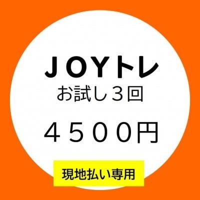 □■現地払い専用■□【JOYトレ】お試し3回コース