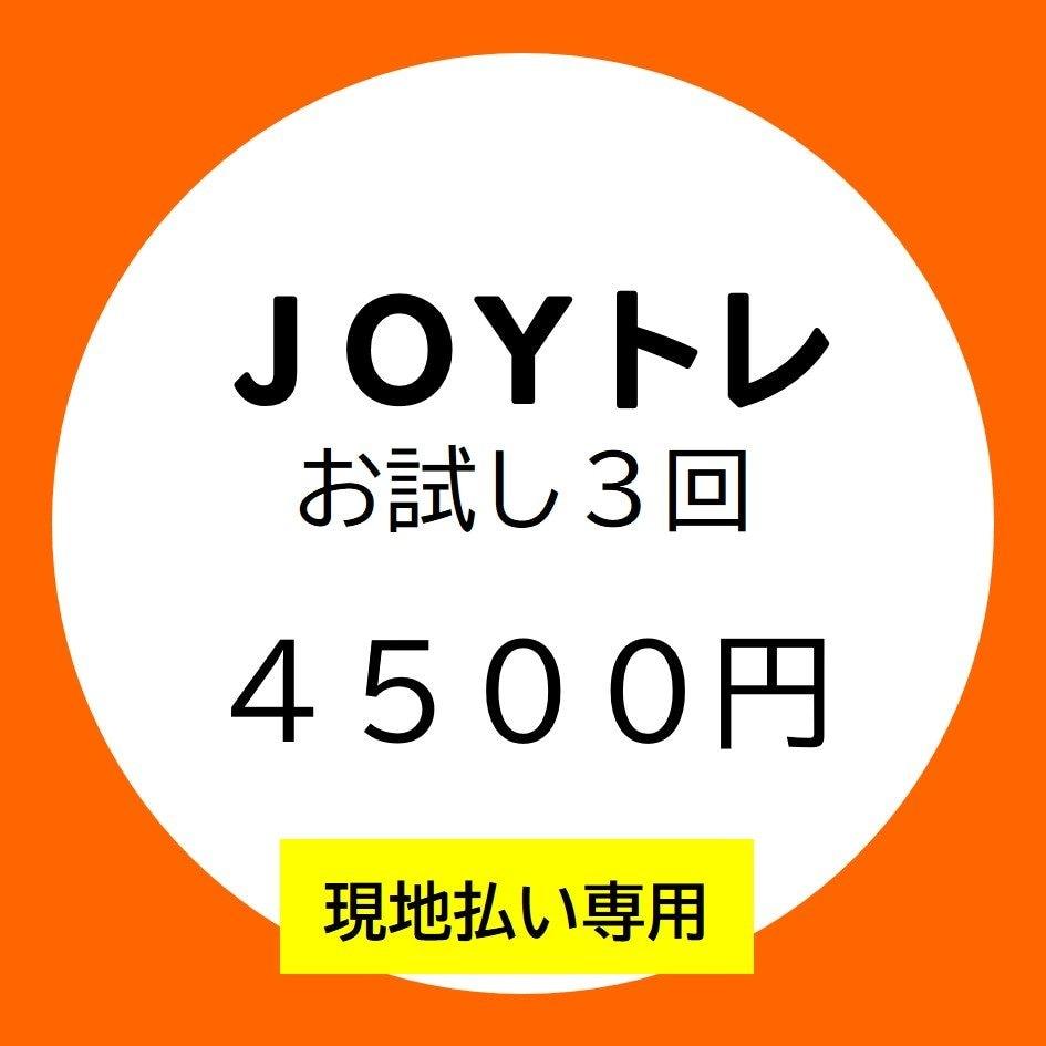 □■現地払い専用■□【JOYトレ】お試し3回コースのイメージその1