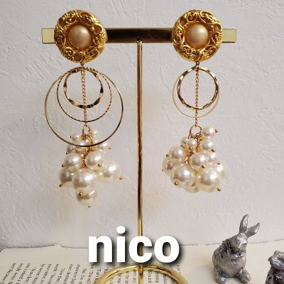 nicoの大ぶりピアス