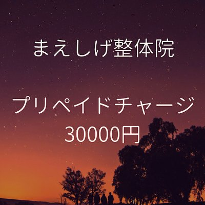 まえしげ整体院 チャージチケット 30000円