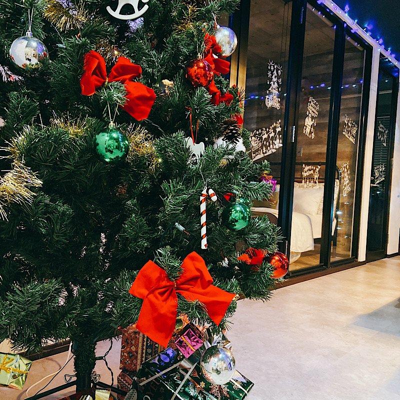 ⭐️期間限定⭐️240㎝のクリスマスツリーをご用意♪飾り付けや片付け不要‼︎【クリスマスパーティープラン5時間6,000円】一棟時間貸し〜 Harbor SEIWA 〜のイメージその4