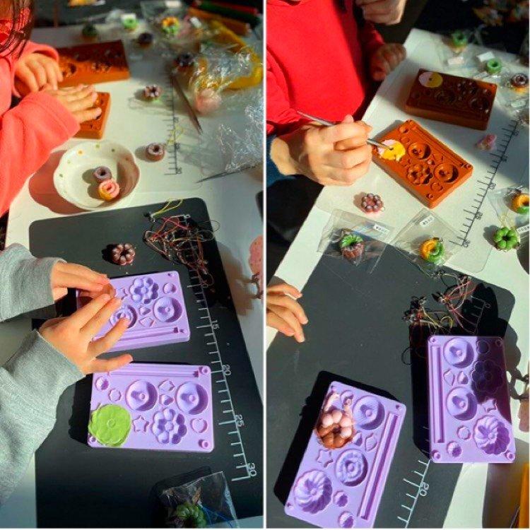 粘土で作るかわいいドーナツストラップ作り/クレイワークショップウェブチケット(500円税込50ポイント付)のイメージその4