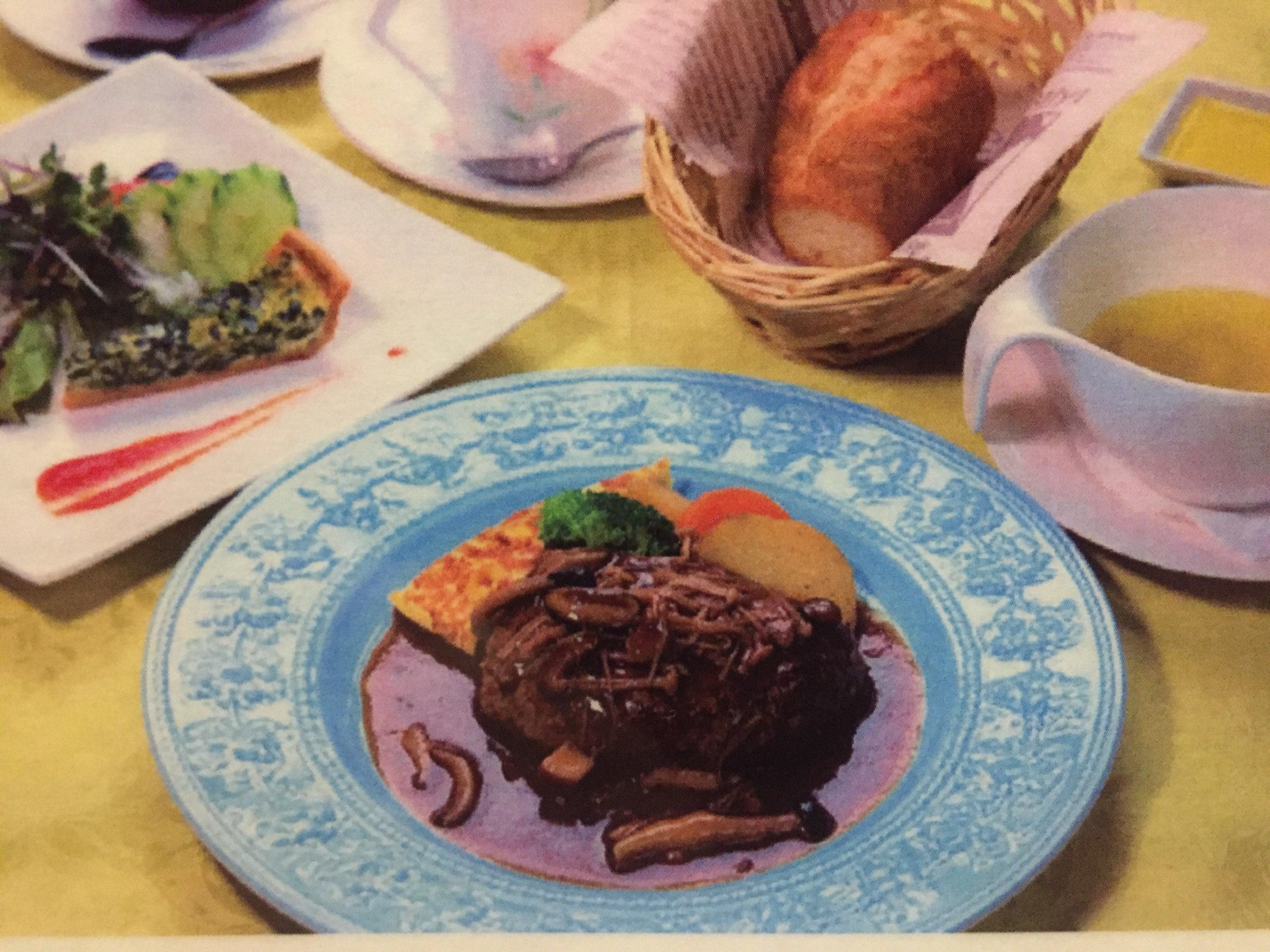 (オニオンスープ変更専用)「フルーヴァン」長崎和牛ハンバーグステーキセットのイメージその1