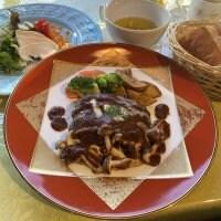 「フルーヴァン」特製長崎和牛ハンバーグステーキセット