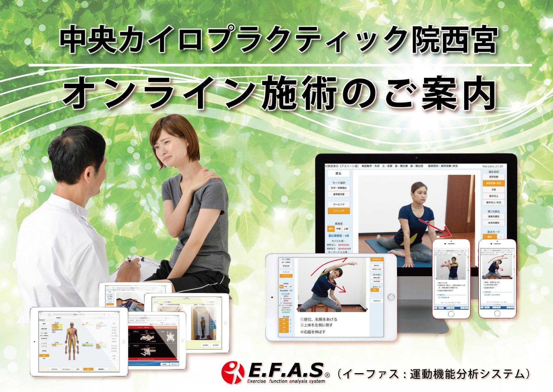 【オンライン整体(30分)】AIによる分析システムを使用し、ご自宅にいながらプロの整体が受けられます!西宮市の整体院 首痛・肩こり・腰痛・背中の張りなど中央カイロプラクティック院西宮にお任せ!!のイメージその1