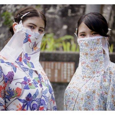 【沖縄発】飲食できるベールマスク【ちゅら布マスク雅】