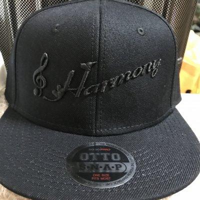 Harmonyキャップ フリーサイズ 黒×黒