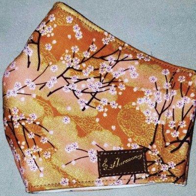 Harmonyマスク 和柄×金桜