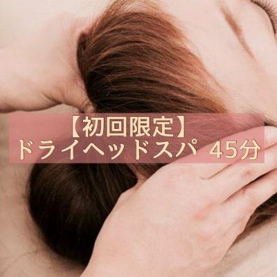 [☆初回限定☆]頭をもみほぐしふわふわした眠りを体験する ドライヘッドスパ  快楽の45分チケット