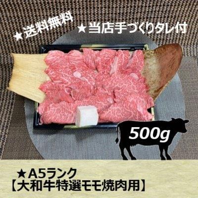 A5ランク大和牛特選モモ焼肉用 500g/お中元に最適/送料無料