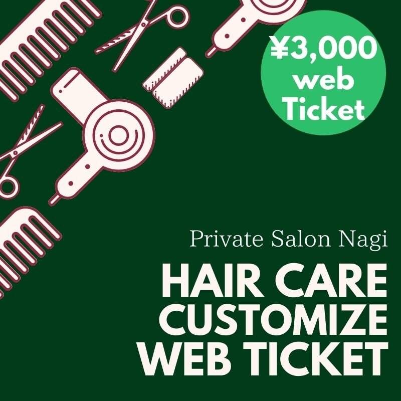 ヘアケアカスタマイズ3,000円ウェブチケット|Private Salon Nagi(ナギ)のイメージその1
