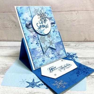 【クリスマスカード】スノーフレーク