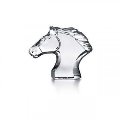 【Baccarat/バカラ】馬の頭/フィギュリン/乗馬、馬術、競馬、馬好きの方...