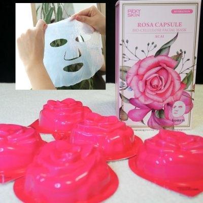 レット(乾燥ケア・肌に透明感)フェイスマスク/PICKY SKIN ローザ カプ...