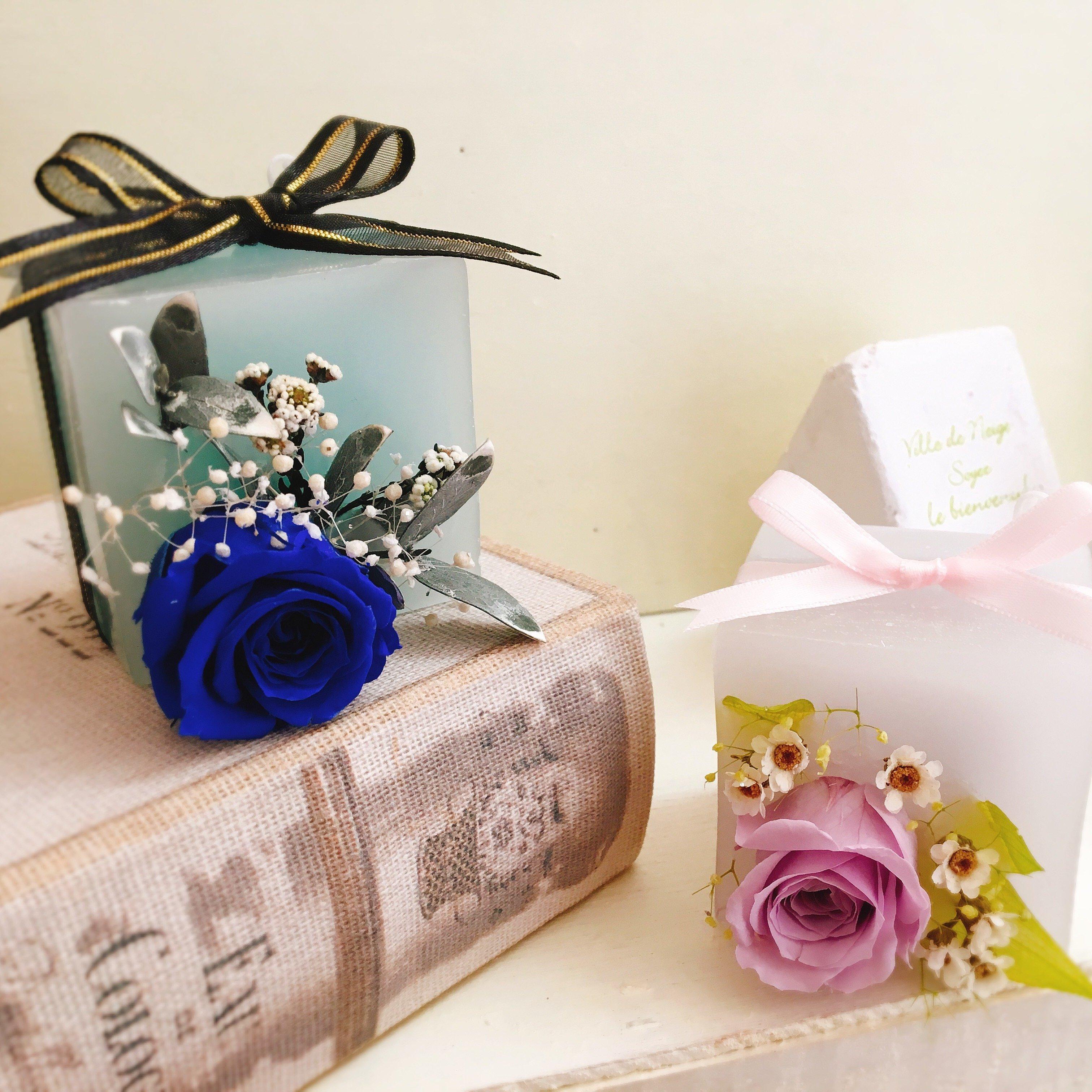 【キャンドル制作体験】プレゼントにおすすめ!キューブ型キャンドル2個 制作♪(初心者様、小さなお子様連れOK!)のイメージその1