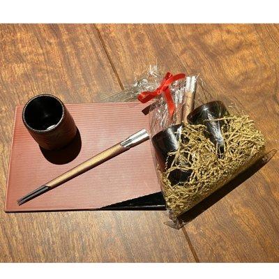 あゆの里オリジナル箸と湯呑みセット