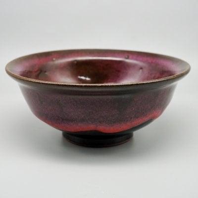 リム付き小鉢(マゼンダの空)