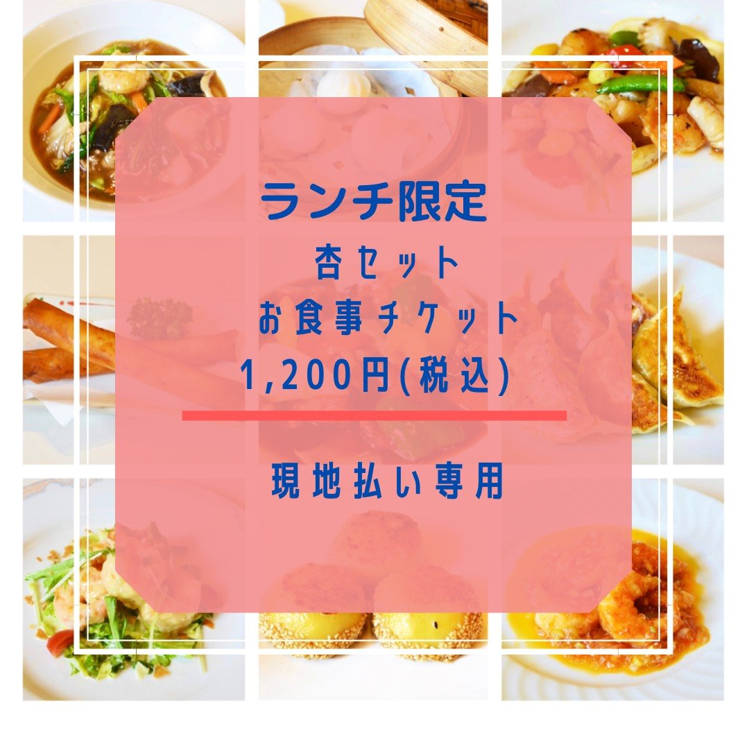 【現地払いのみ対応】ランチ限定 杏セット1,200円チケット ポイント付き♪長崎諫早 中華料理のイメージその1