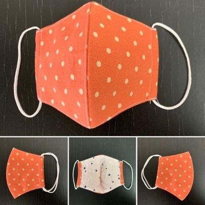 洗濯可能マスク手作りMサイズ 素材綿 幅173ミリ×縦95ミリ